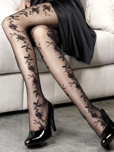 جوراب شلواری نازك زنانه طرحدار