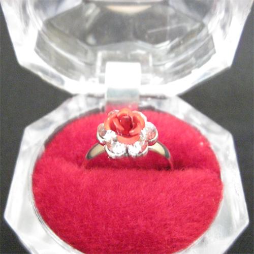 خرید ارزانترین و بهترین و زیباترین انگشتر گل رز قرمز