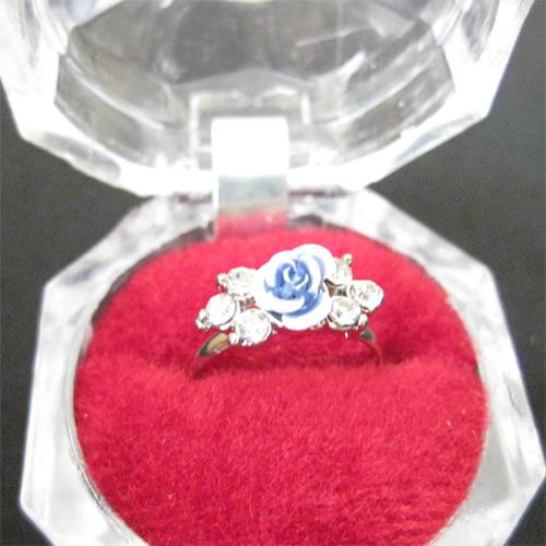 خرید ارزانترین و بهترین و زیباترین انگشتر گل رز آبی