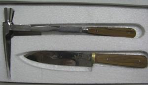 ست چاقو 2 تکه (چاقو و قندشکن) دسته کائوچو