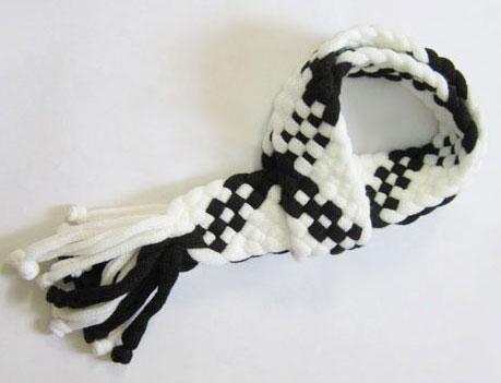 شال گردن مدل جدید رنگ مشکی و سفید بسیار شیک