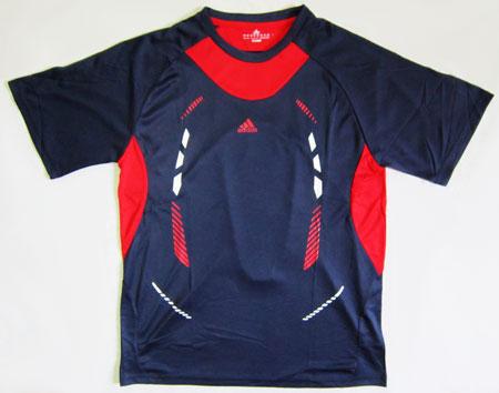 تیشرت آدیداس سرمه ای طرحدار قرمز و سفید سایز XXL