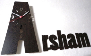 طراحی ساعت جشن تحصیلی وتولد کلمات m33