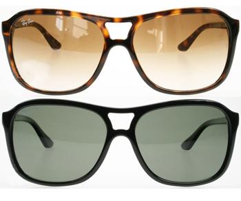 عینک ری بن شیشه مربعی قهوه ای