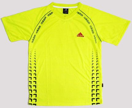 تیشرت آدیداس رنگ زرد جدید سایز XL