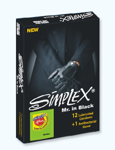 92 - کاندوم مرد سیاه پوش سیمپلکس (مجوز 15313 / 9 / ک)