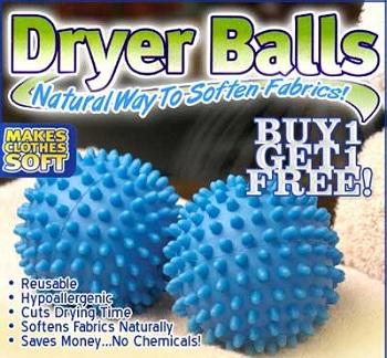 کننده درایر بالز DRYER BALLS (توپ های خشک کننده و نرم پوشاک در لباسشوئی )
