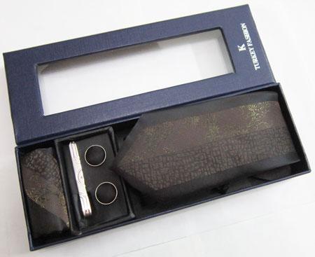 ست کامل کراوات با طرح لیزری دارای جعبه ساخت ترکیه کد t88