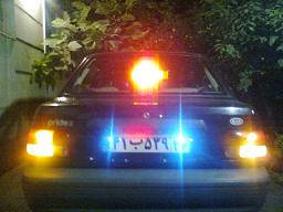 چهار عدد لامپ لیزری پلاک اتومبیل با قاب محافظ استیل