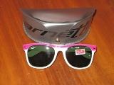 عینک آفتابی سفید صورتی طرح Reyban