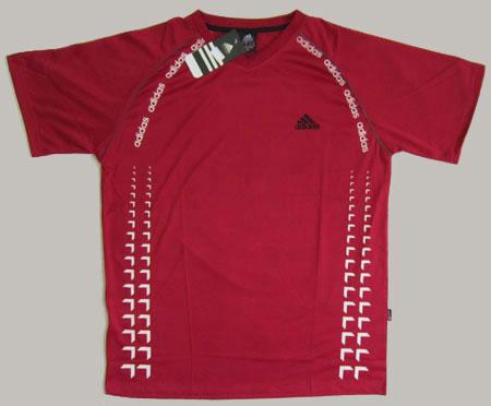 تیشرت آدیداس رنگ قرمز زرشکی جدید سایز XL