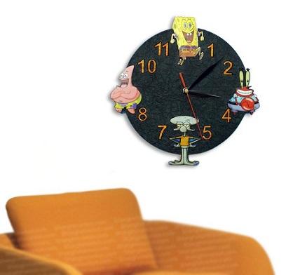 ساعت فانتزی طرح باب اسفنجی
